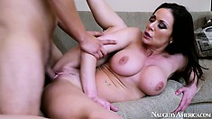 Busty brunette Milf Kendra Lust goes doggy and gets pumped hard