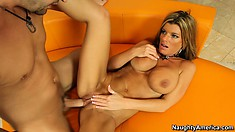 Kristal Summers's big boobs bounce when he fucks her pussy hard
