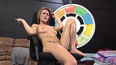 Britney Jade tokes her smoke as she contemplates getting licked