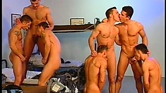 Horny recruits with awesome bodies engage in hardcore gay action