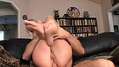 Sharon Wild's super tight butthole gets brutally ravaged by a big dick