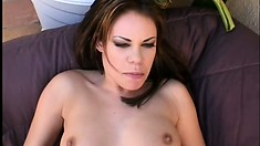 Busty Gia Paloma gets fucked hard in both holes by Alec Knight in POV